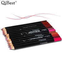 12x Qibest Lip Liner Pencil Set Waterproof