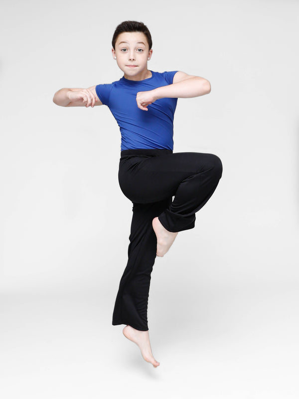 Black stretch cotton JAZZ  pants - BOYS