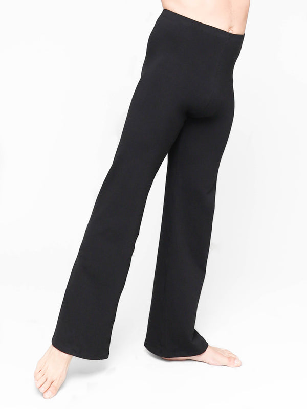 Black stretch cotton JAZZ pants - MENS