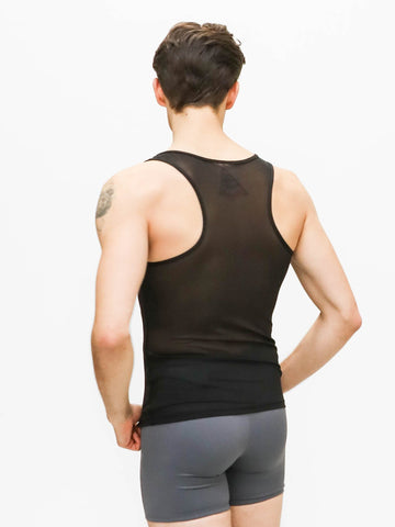 Racerback Tank with Power Mesh Back - MENS
