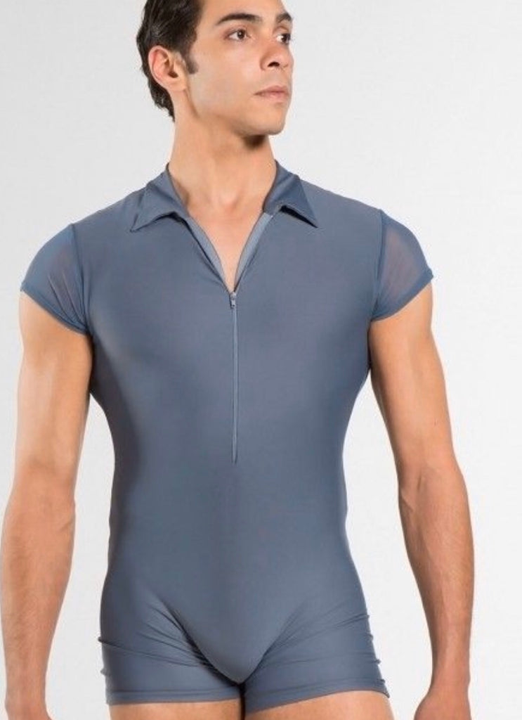 Polo collar unitard with front zip - MENS