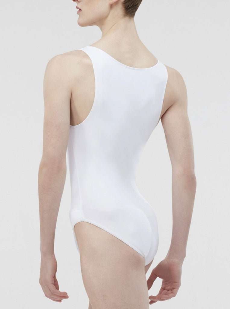 Microfibre Tank Leotard with built in full seat dance belt - Mens