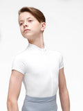 Zip Front Short Sleeved Leo with Built-in Thong Dance Belt - BOYS