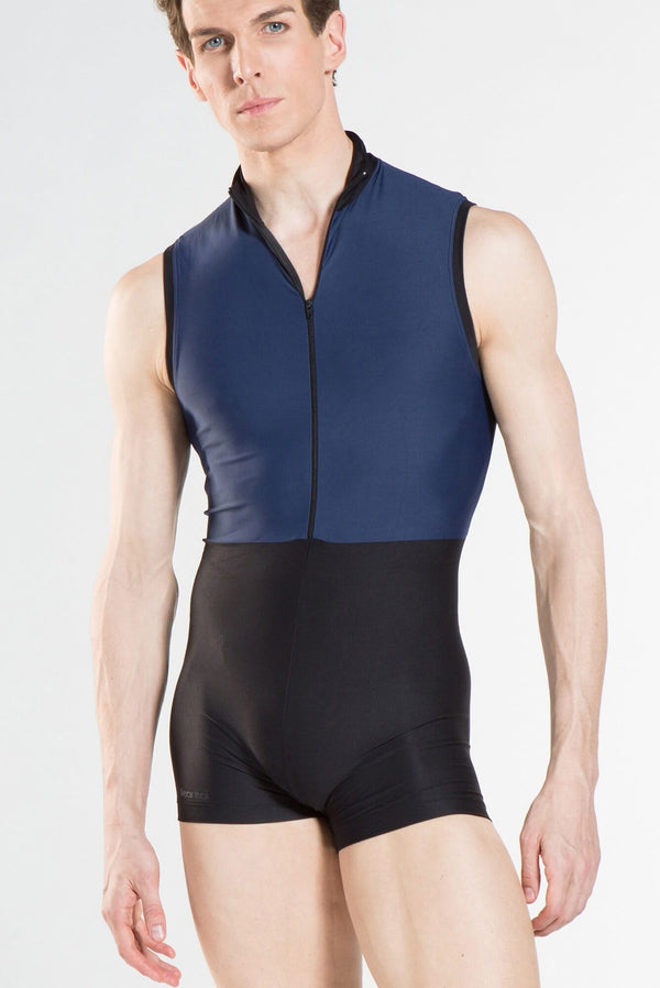 Sleeveless Zip-Front Biketard
