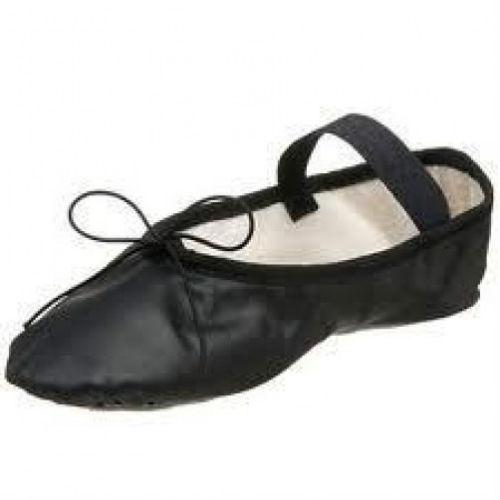 Full Sole Leather Pleated Ballet Shoe - BOYS