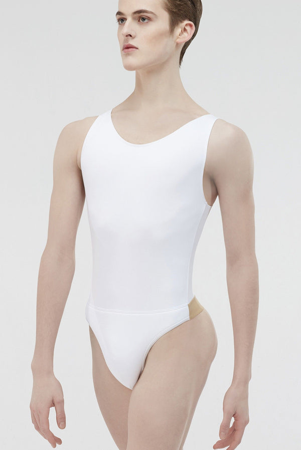 Wide neck Leo with build in dance belt - MENS