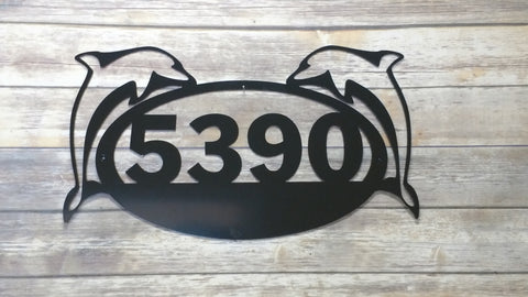 Duel Dolphin Address Sign