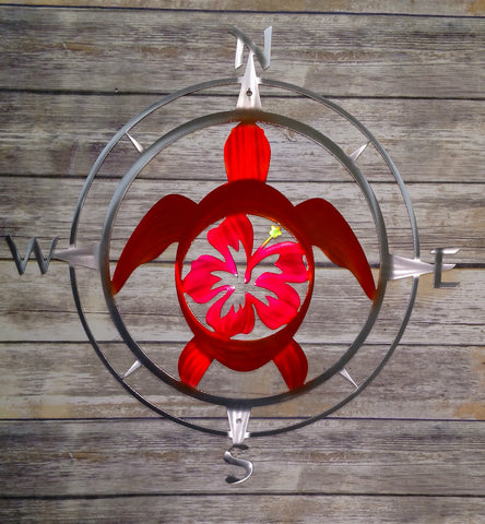 Sea Turtle Flower Compass Rose