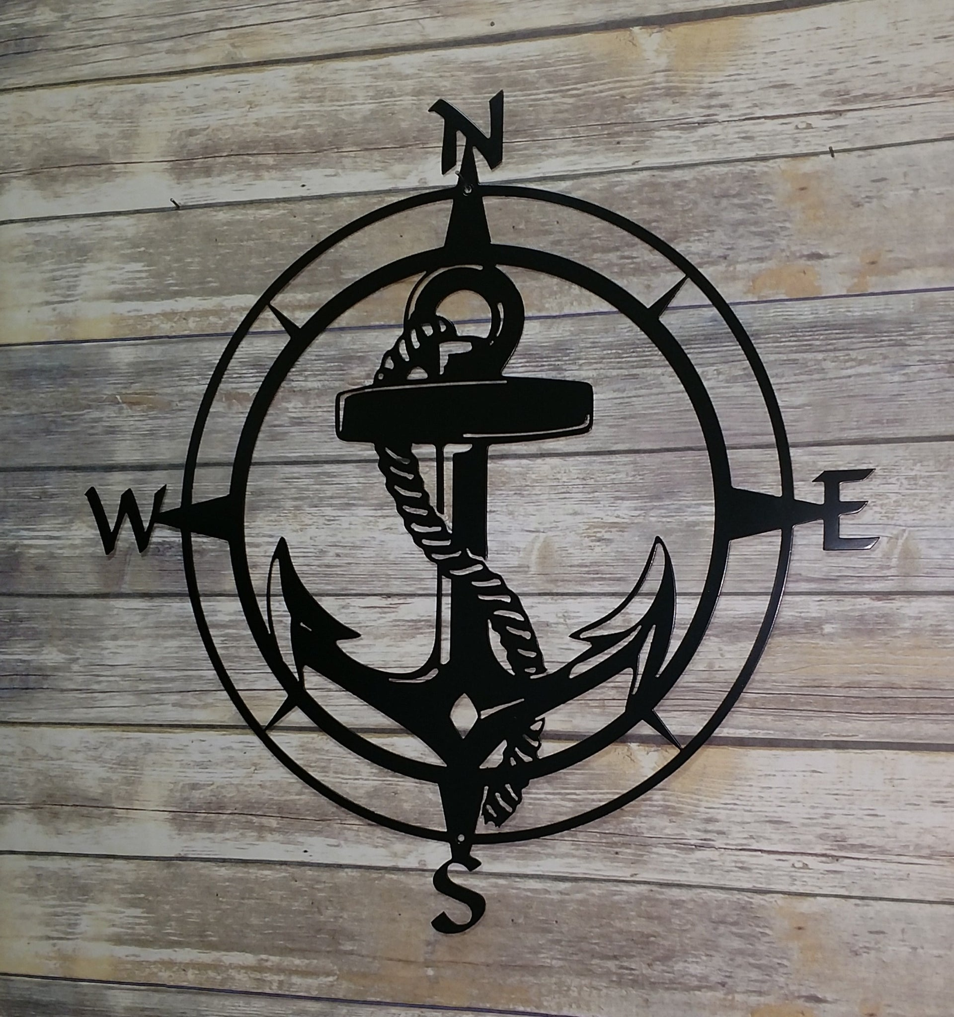 Anchor Compass Rose