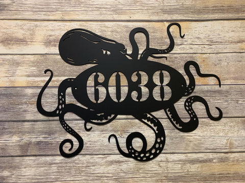 Octopus Address Sign