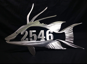 Hog Fish Address Sign