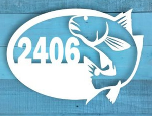 Redfish Oval Address Sign
