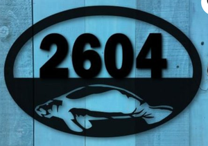 Manatee Oval Address Sign