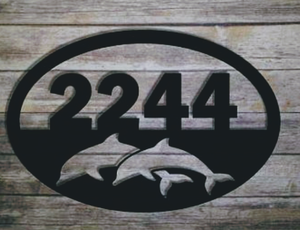 Dolphin Address Sign