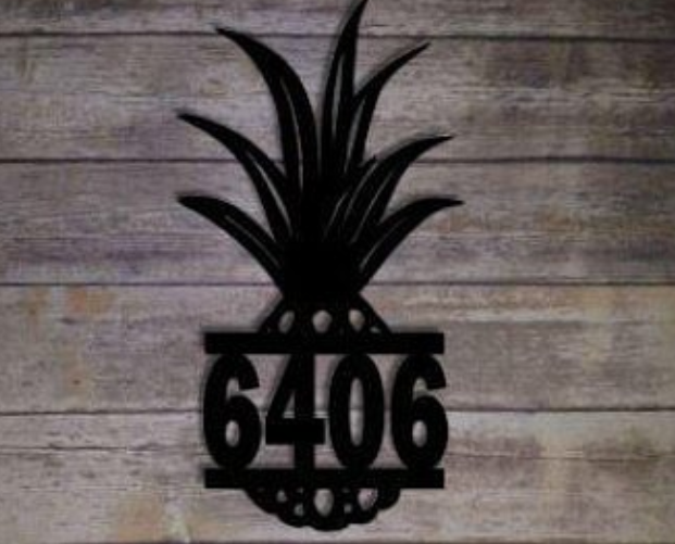 Pineapple Address Sign