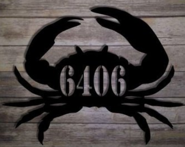 Crab Address Sign