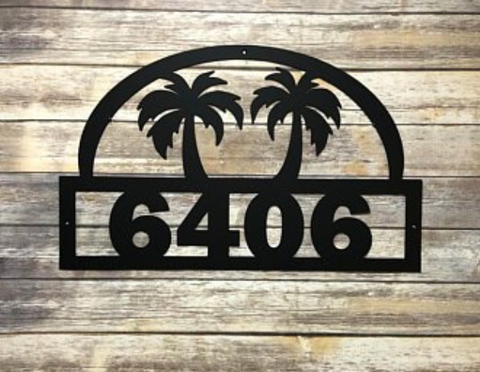 Twin Palm Address Sign