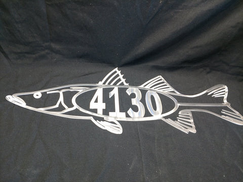 Snook Address Sign
