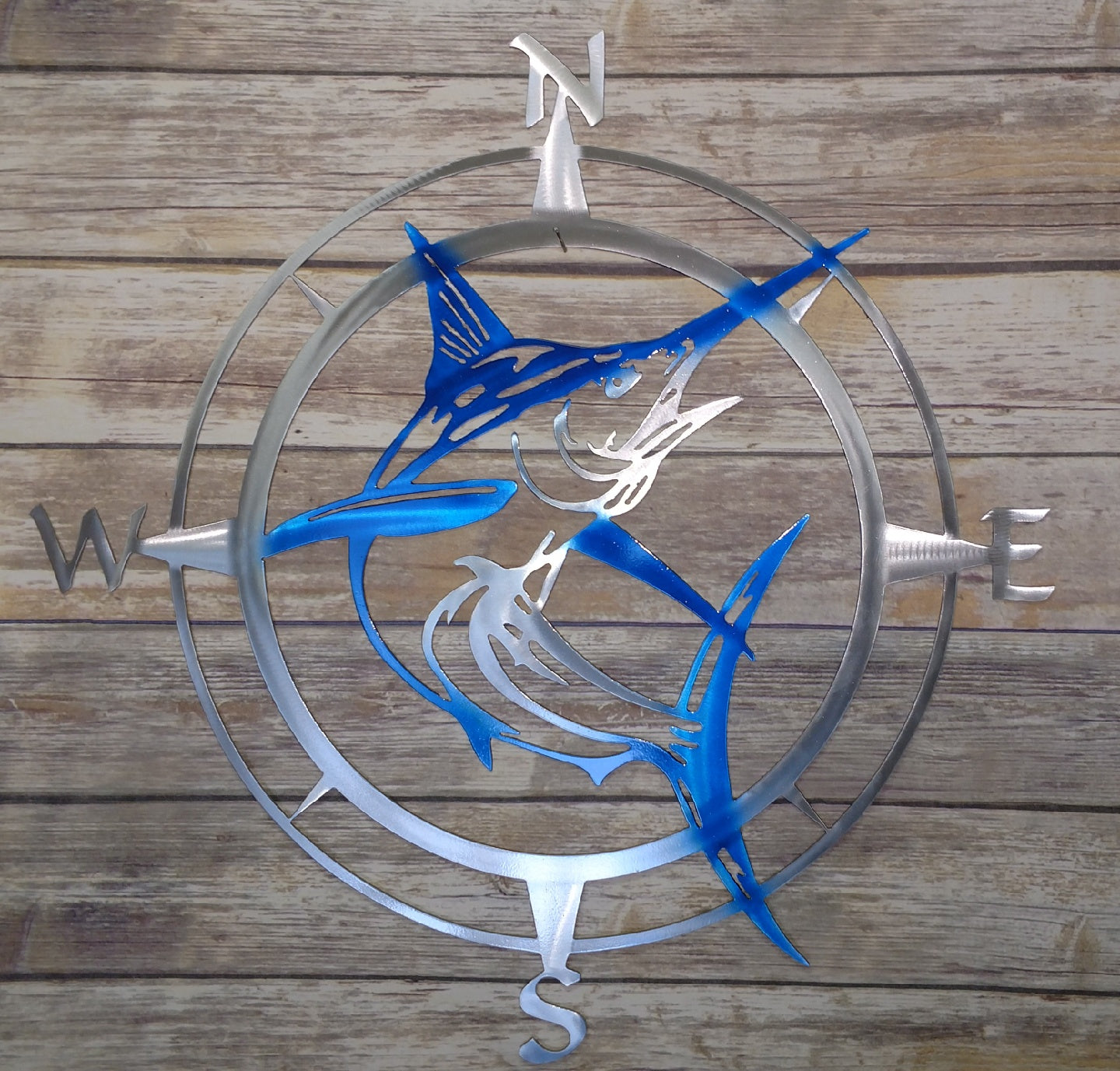 Airbrushed Marlin Compass Rose