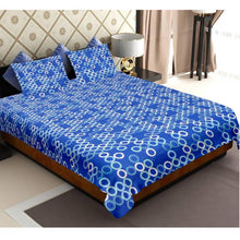 Load image into Gallery viewer, Radium Print Glow In The Dark 144 TC Cotton Bedsheet For Double Bed