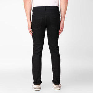 Black Denim Regular Fit Mid-Rise Jeans
