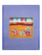 Load image into Gallery viewer, Rajasthani Rational Print Blue King Size Bed Sheet With Two Pillow Cover