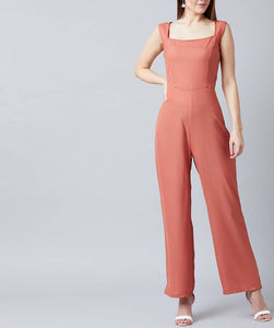 Nude Sleeveless Jumpsuit For Women