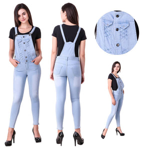 Trendy Denim Dungarees For Women's And Girl's