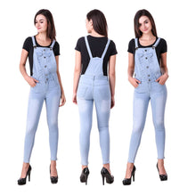 Load image into Gallery viewer, Trendy Denim Dungarees For Women's & Girl's