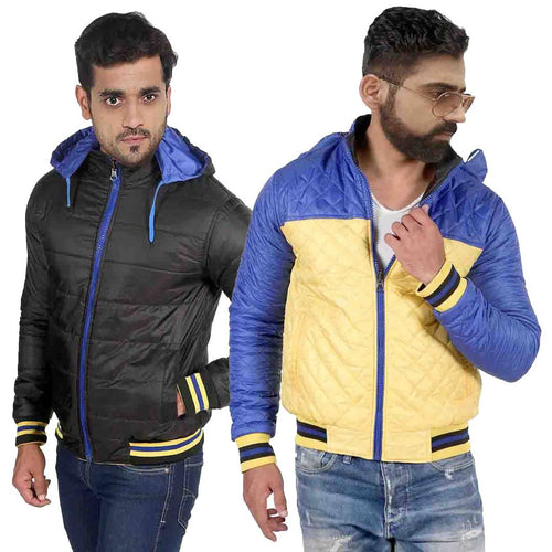 Men's Multicoloured Polyester Long Sleeves Reversible Jacket