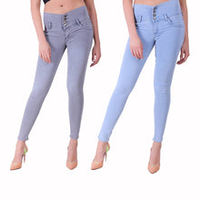 Load image into Gallery viewer, Combo Of 2 High Waist Denim Jeggings