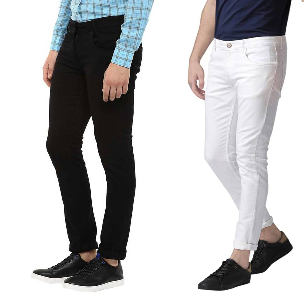Men's Denim Slim Fit Jeans- Buy One Get One