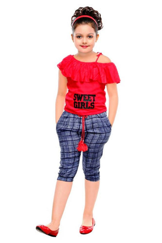 Girls Party Festive Top Pant