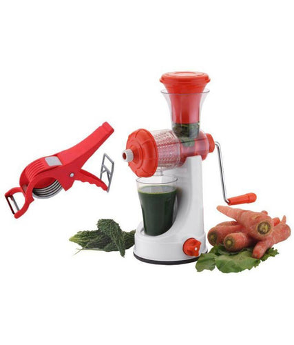 Attractive Red Plastic Manual Citrus Juicers