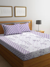 Load image into Gallery viewer, Royal Multicoloured Polycotton  1 Double BedSheet & 2 Pillow Cover