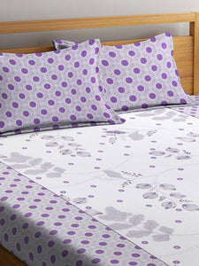 Royal Multicoloured Polycotton  1 Double BedSheet & 2 Pillow Cover