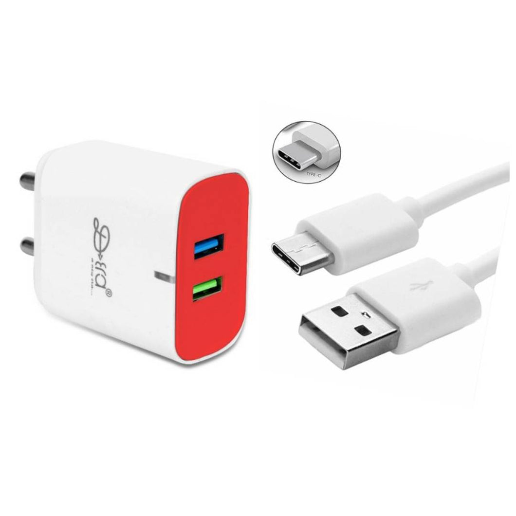 White Charger With C Type Cable