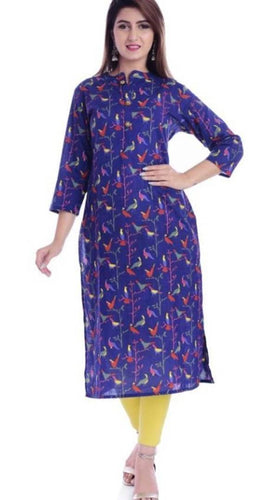 Alluring Cotton Slub Kurti For Women's