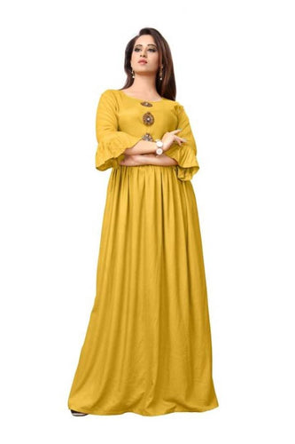 Solid Long Rayon Women's Gowns