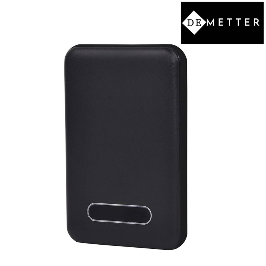 DeMetter Palm 5 Display : Slim Power Bank 5000mAh (Black)