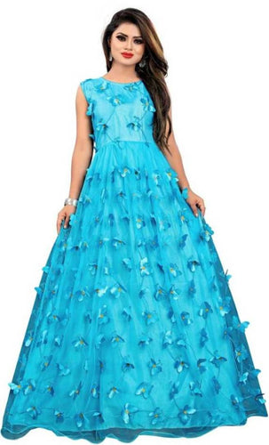 Attractive Butterfly Design Gown