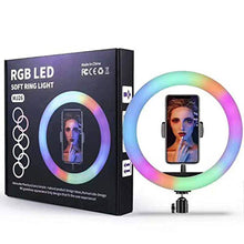 Load image into Gallery viewer, LED Soft Ring Light, RGB Flash Ring Light For Camera Smartphone Youtube Video Shooting