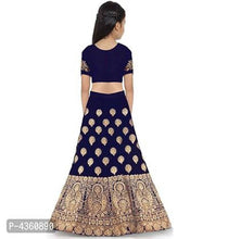 Load image into Gallery viewer, Elite Blue Embroidered Satin Lehenga Cholis For Girls