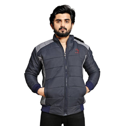 Men Quilted Full Sleeve Jacket