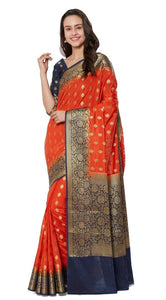 Silk Woven Saree With Blouse