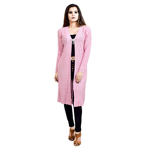 Shree Mark Womens/Ladies / Girls Woolen Full Sleeve Winter Wear Open Shrug and Womens/Ladies / Girls Woolen Full Sleeve Shrug(Type-Women Woollen Cardigan;Size- Free)