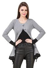 Load image into Gallery viewer, Texco Women's Blended Round Neck Shrug(TC00D00147-L, Grey)