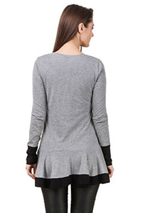 Texco Women's Blended Round Neck Shrug(TC00D00147-L, Grey)