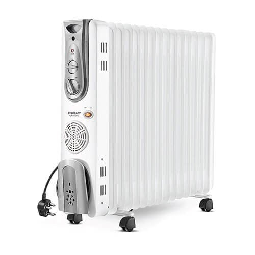 Eveready OFR13FG 2900-Watt Oil Filled Radiator (White)