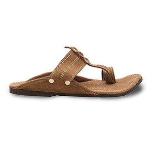 Ethnic Arts Men Kolhapuri Design Leather Ethnic Mojari Slipper 205 - 8